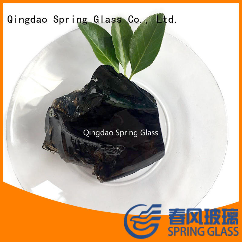 Spring Glass landscaping blue clear glass rocks supplier for decoration