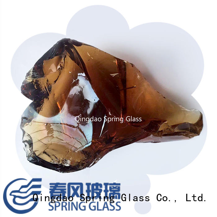 Spring Glass high quality fire glass rocks for busniess for garden