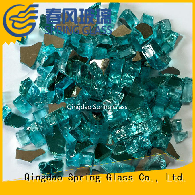 Spring Glass high quality landscaping glass rocks company for square