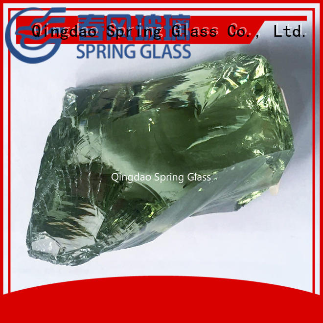 crushed landscaping glass rocks wholesale for decoration