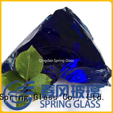 Spring Glass glass rocks manufacturer for garden