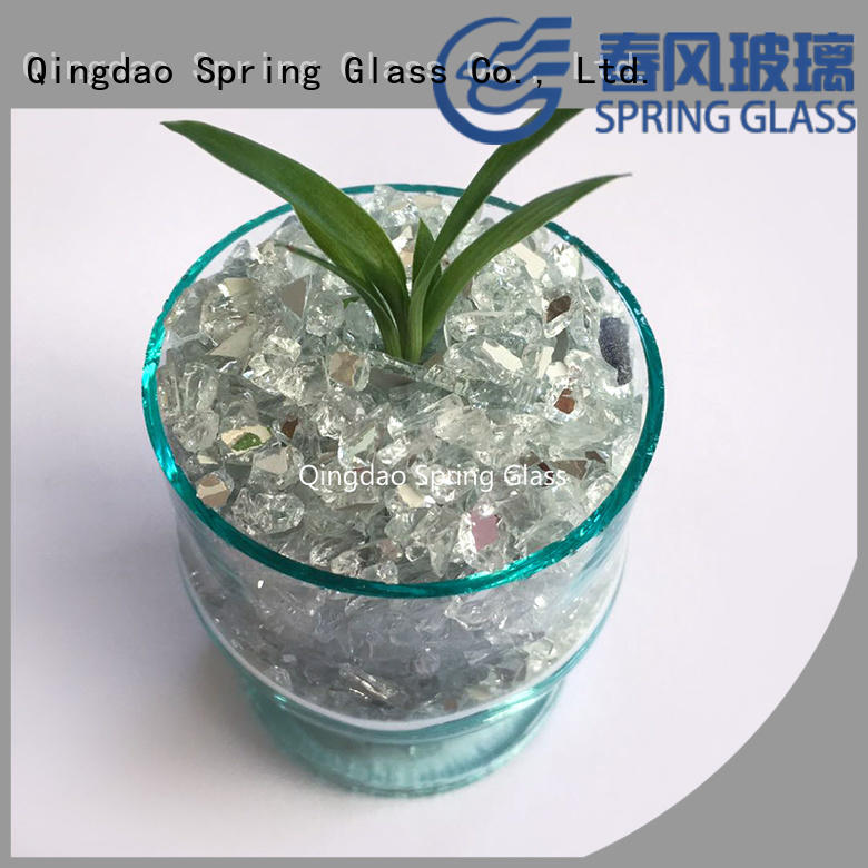high quality crushed glass chips company for decoration