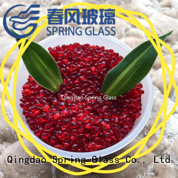 hot sale glass gravel supplier for square