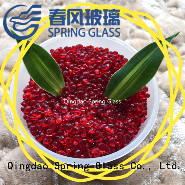 hot sale glass gravel supplier for square