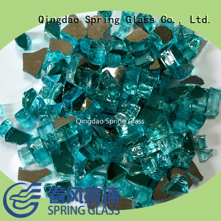 good selling fire glass rocks hot sale for decoration Spring Glass