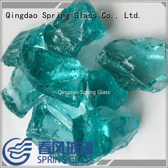 Sea blue crushed glass