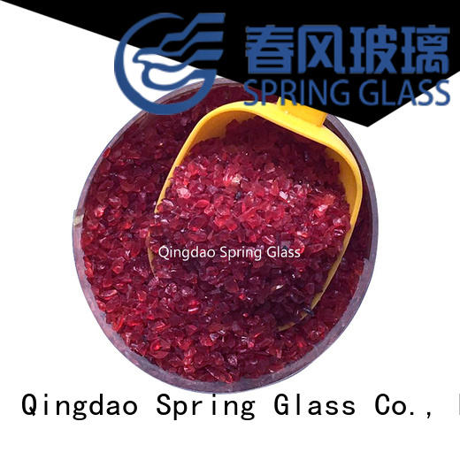 high quality decorative crushed glass company for floor