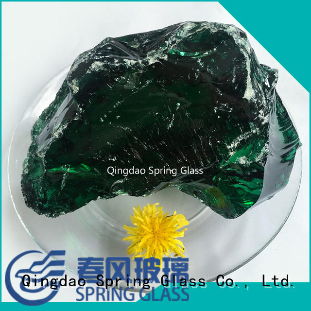 good selling fire glass rocks supplier for decoration Spring Glass