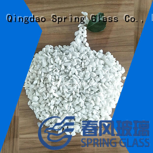 Spring Glass black recycled crushed glass suppliers good selling for kitchen