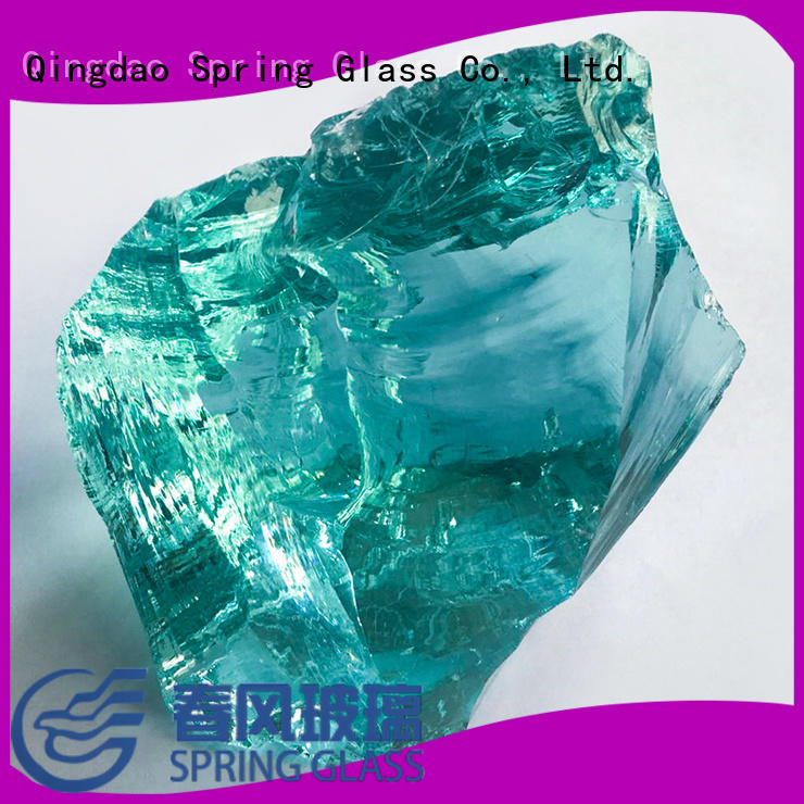 Spring Glass landscaping glass rocks manufacturer for garden