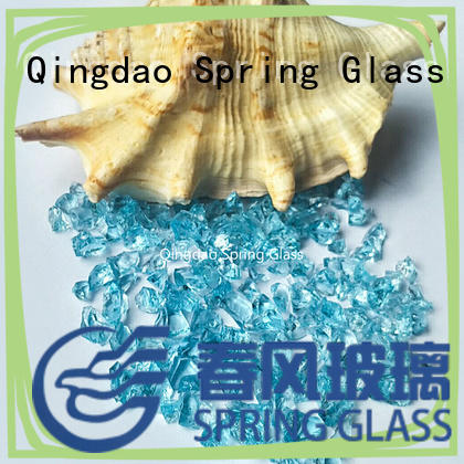 Spring Glass dark decorative crushed glass manufacturer for kitchen