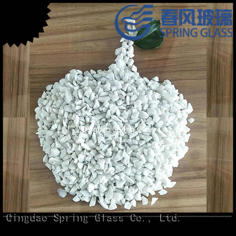 Spring Glass decorative crushed glass factory for floor