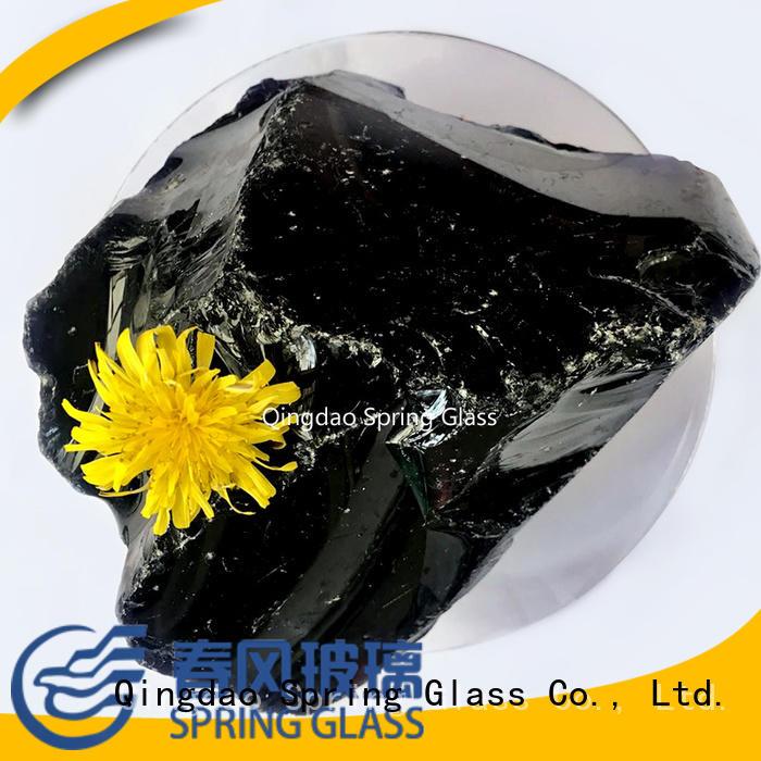 Crushed Grey glass rocks