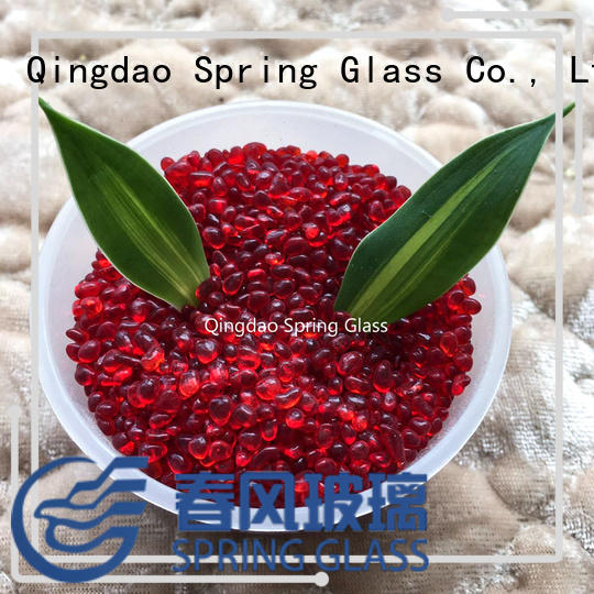 hot sale glass gravel supplier for decoration