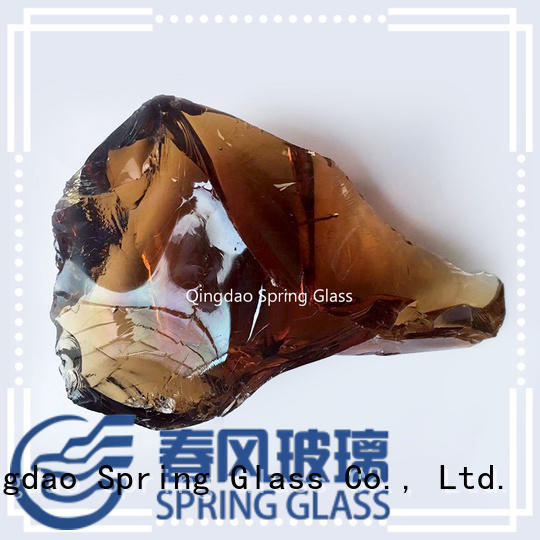 Spring Glass green clear decorative rocks wholesale for home
