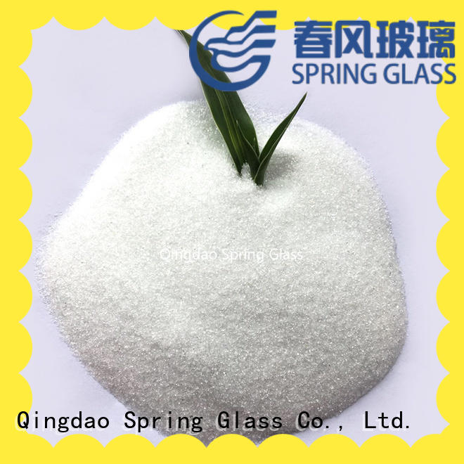 Spring Glass latest crushed glass powder factory for paving