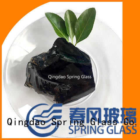 Spring Glass colorful glass rocks for busniess for square
