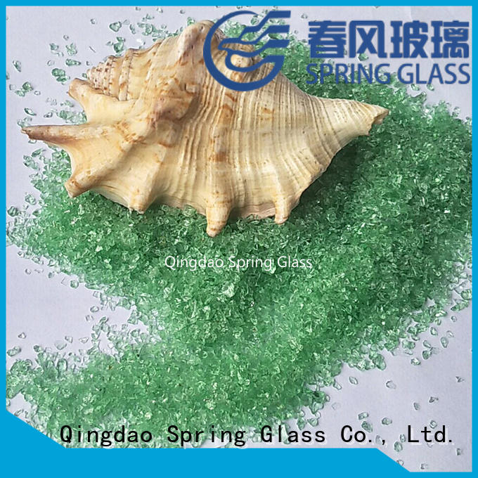 Spring Glass superior quality recycled crushed glass manufacturer for sale
