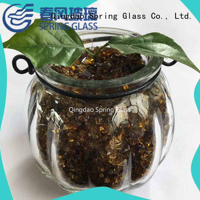 superior quality recycled crushed glass manufacturer for decoration Spring Glass