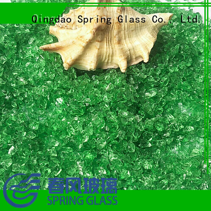 Spring Glass super white decorative crushed glass supplier for floor