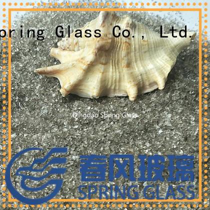 Spring Glass custom blue crushed glass for floor