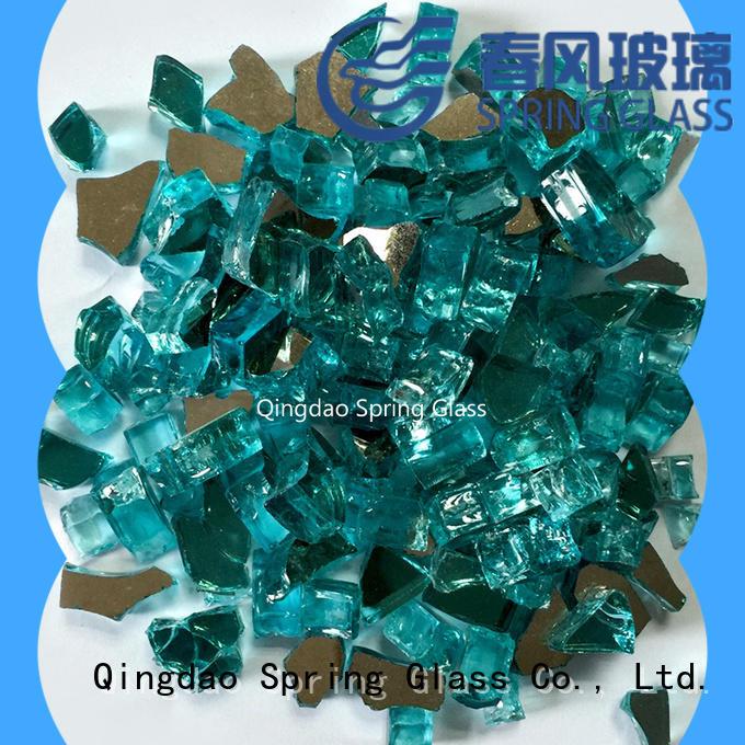 blue clear glass rocks manufacturer for garden Spring Glass