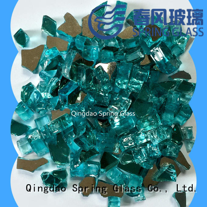 blue clear glass rocks manufacturer for garden Spring Glass