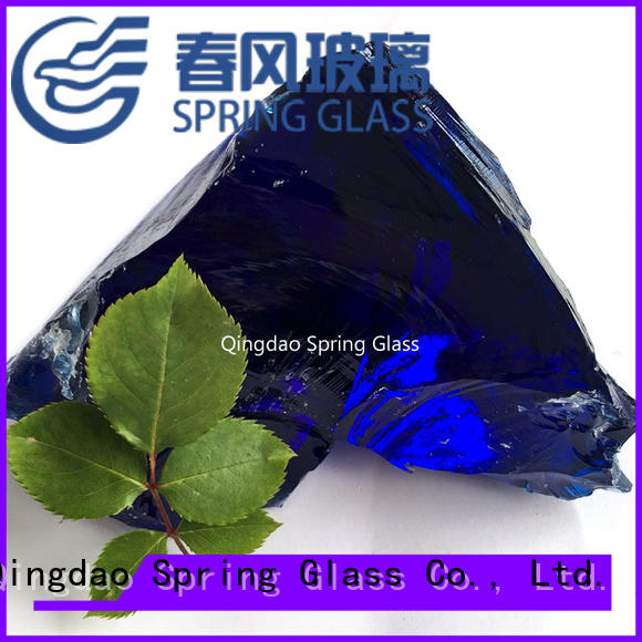 Spring Glass fire glass rocks manufacturer for decoration