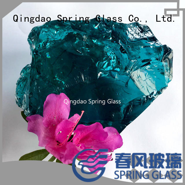 Spring Glass fire glass rocks factory for decoration