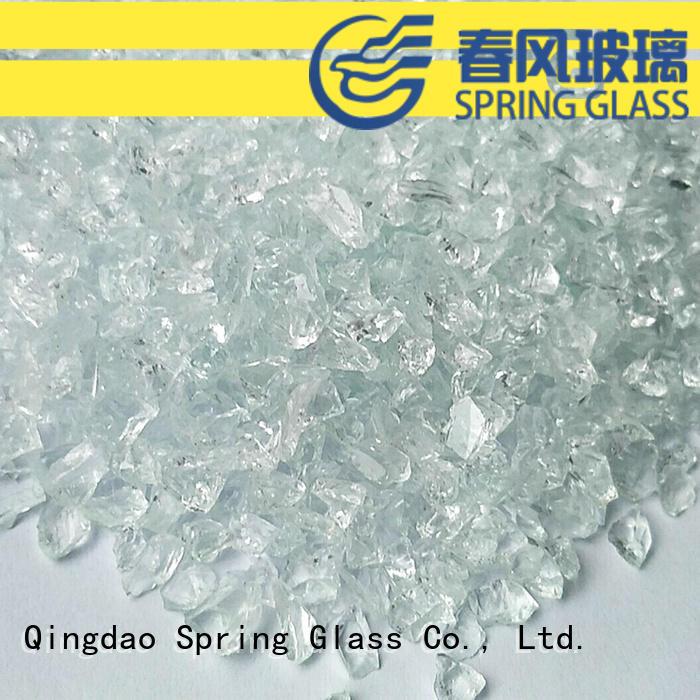 Super white crushed glass
