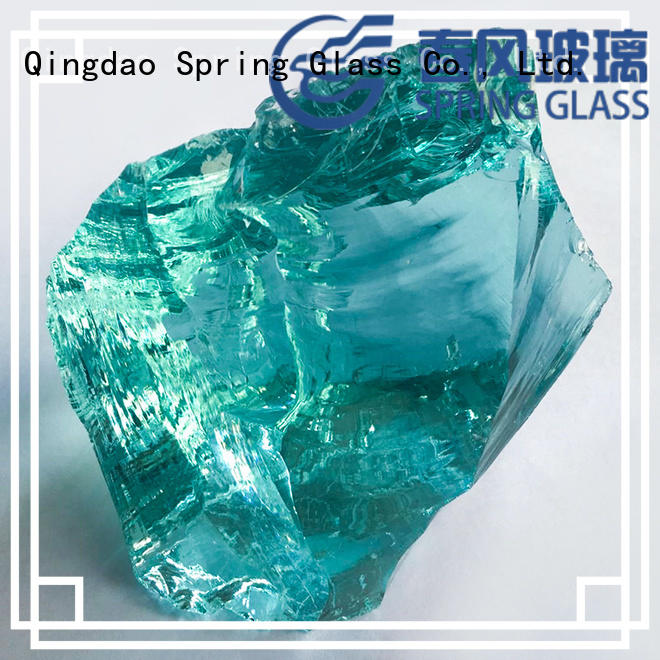 good selling colored glass rocks for landscaping beautiful for decoration Spring Glass