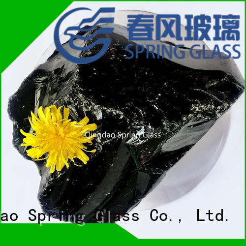 Spring Glass natural landscaping glass rocks for busniess for square