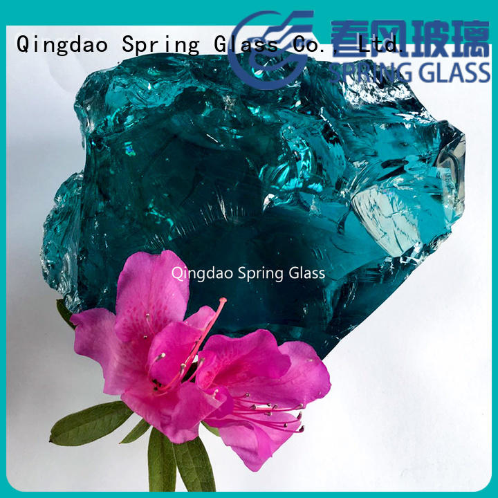 Spring Glass glass rocks for busniess for garden