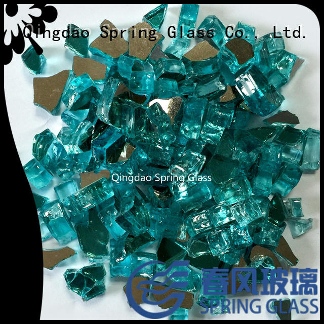 Spring Glass colorful landscaping glass rocks supplier for square