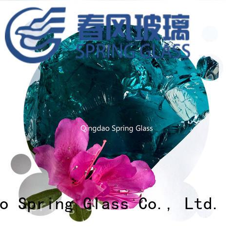 amber fire glass rocks manufacturer for decoration