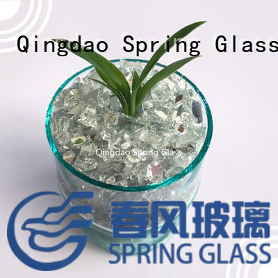 hot sale tumbled glass chips delicate for sale Spring Glass