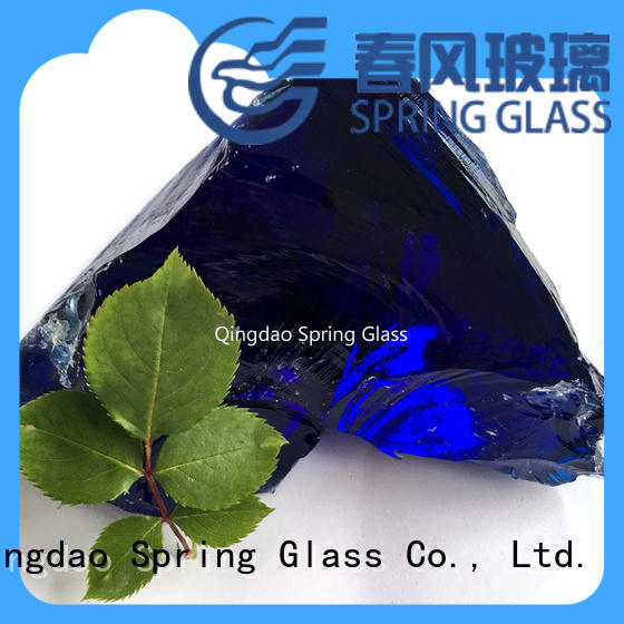 Spring Glass grey glass rocks for decoration