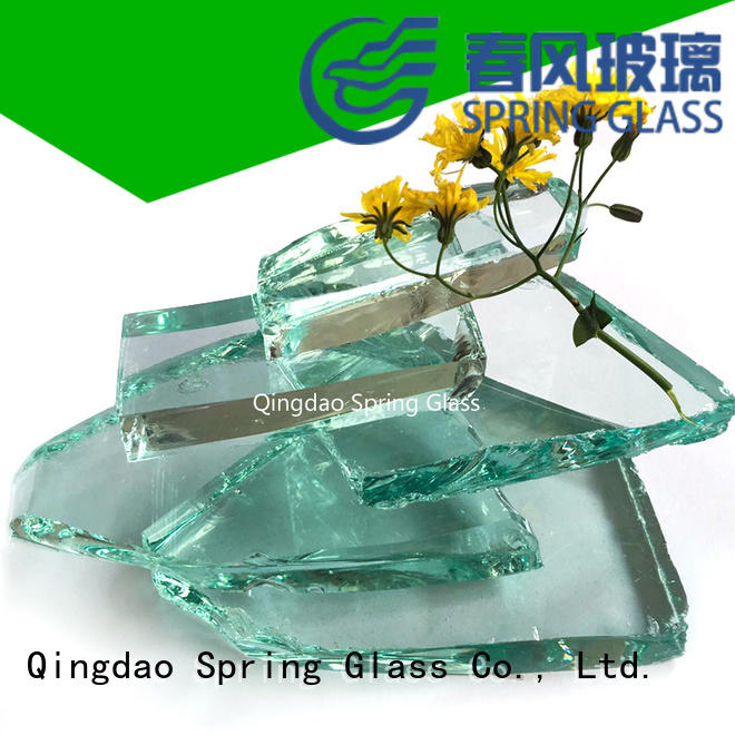 Spring Glass bottle glass cullet chips for water filtration