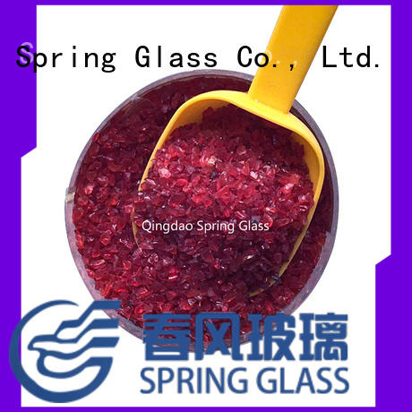 Spring Glass super white recycled crushed glass wholesale for kitchen