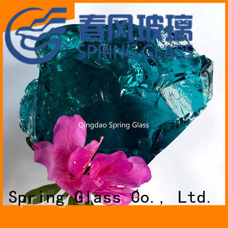 Spring Glass landscaping glass rocks factory for home