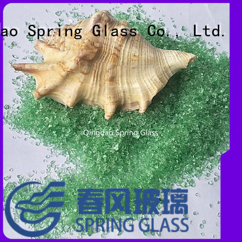 Spring Glass decorative crushed glass manufacturer for kitchen
