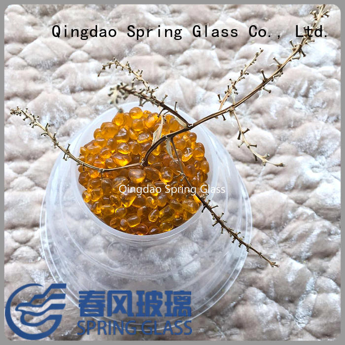 Spring Glass flat glass beads manufacturer for decoration