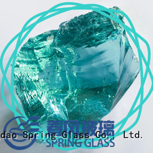 Spring Glass glass rocks supplier for square
