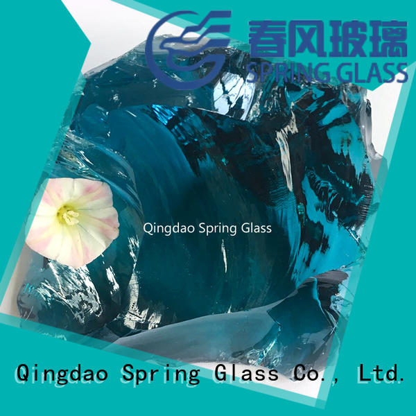 Spring Glass normal glass rocks manufacturer for square