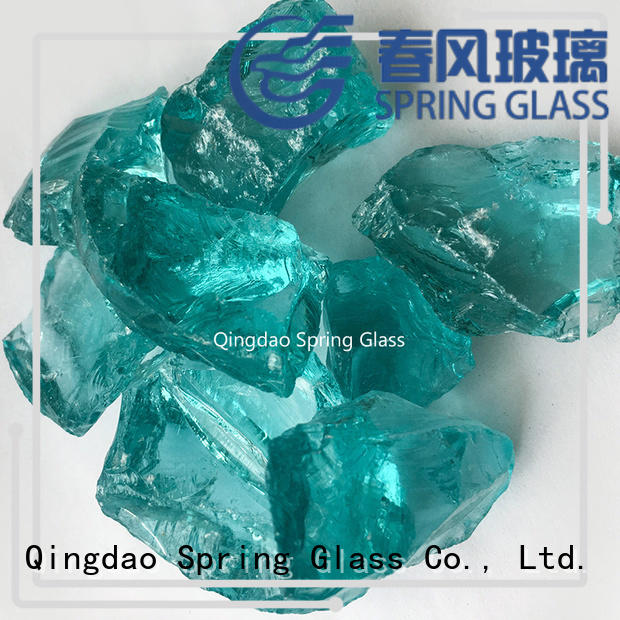 Spring Glass european crushed tempered glass superior quality for sale