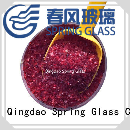 good selling crushed glass supplier for decoration