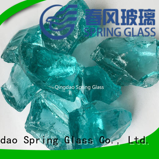 Spring Glass decorative crushed glass manufacturer for floor