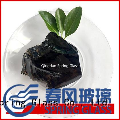 Spring Glass natural landscaping glass rocks manufacturer for home
