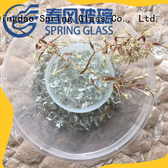 Spring Glass new glass pebble gravel for decoration