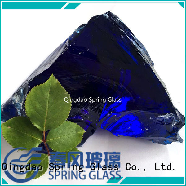 Spring Glass super white landscaping glass rocks good selling for home